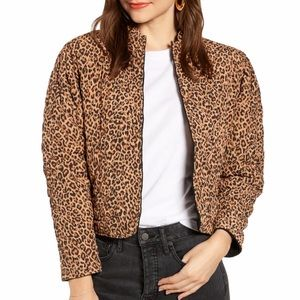 Something Navy Reversible Quilted Leopard Jacket